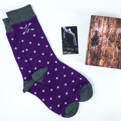 Purple men's dress socks