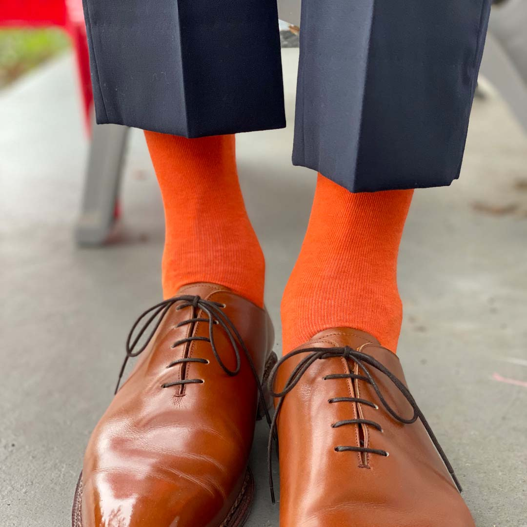 Tangerine Solid - A Solid Tangerine Sock | NMP