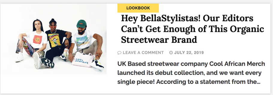 Featured on the biggest African Blog - Bellaniaja & BellaStyle