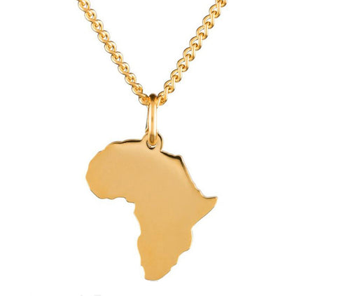 Cool African Map Gold Chain