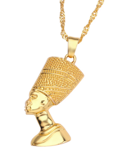Queen Nefertiti Gold Necklace
