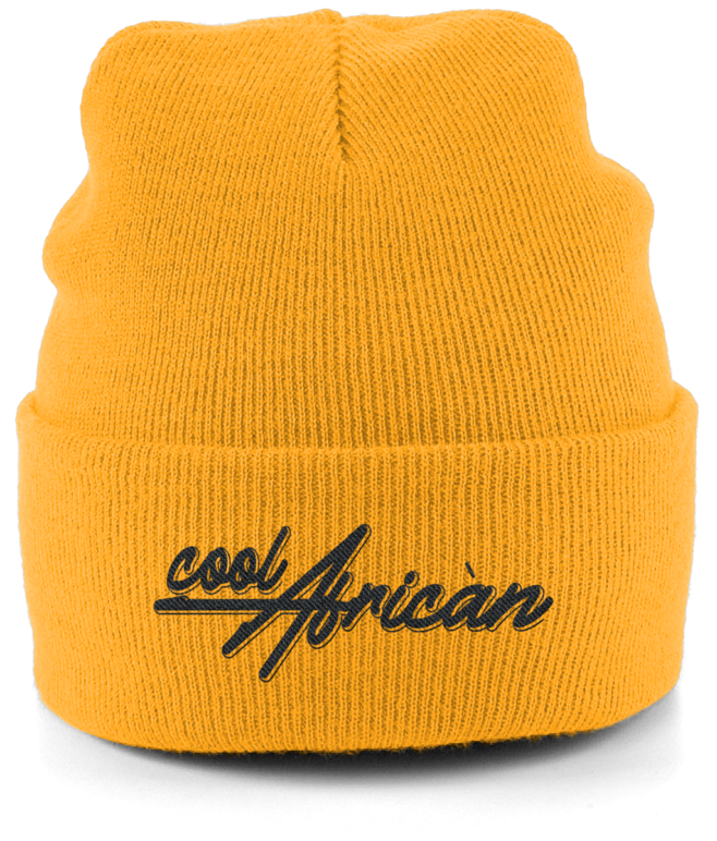 CoolAfrican Unisex Cuffed Beanie in Gold