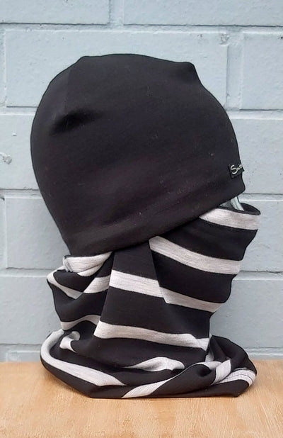 Black and Grey Single Stripe