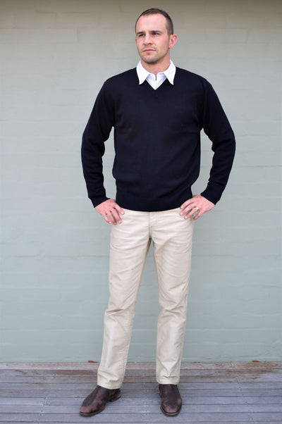 Classic Merino Wool V-Neck Jumper