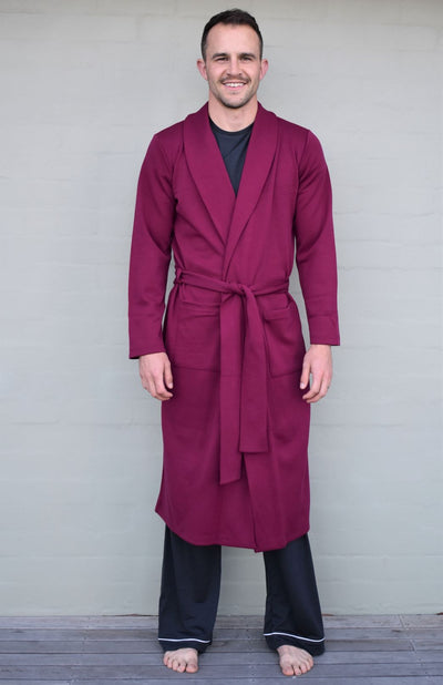 Men's Smitten Merino Wool Ponte Dressing Gown
