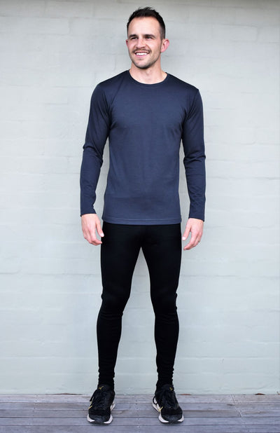 Long Sleeved 170g Crew Neck Top