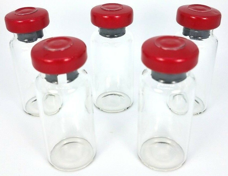 10mL Sterile Glass Vial - Red