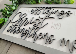 Layered Quote: Philippians 4 13 All things through Christ