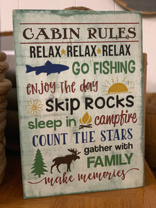 Cabin Rules: Word Art