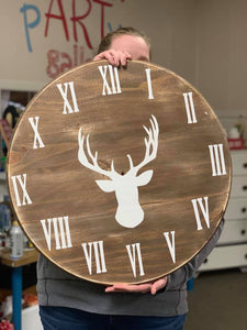 Farmhouse Clock, 18""
