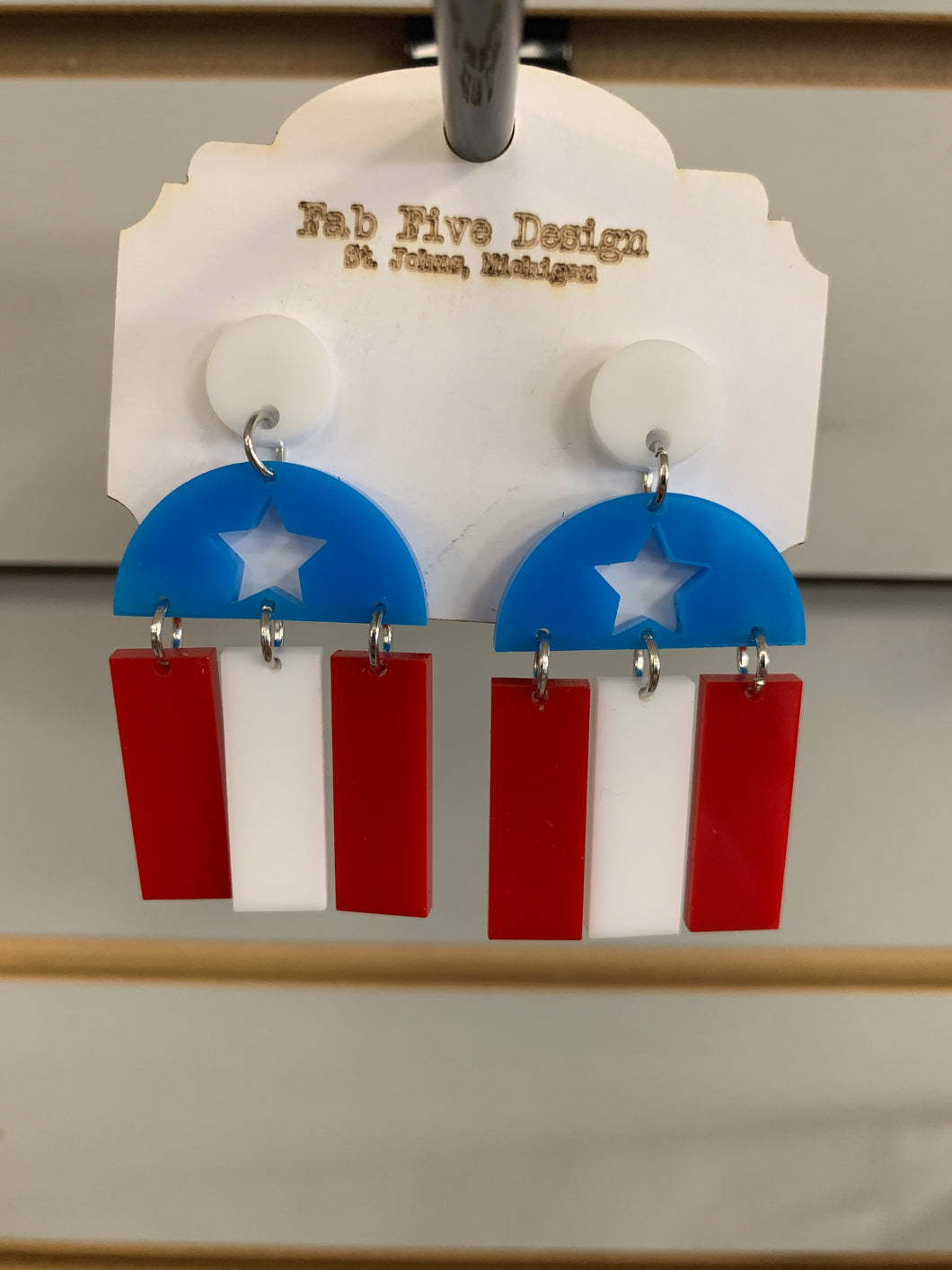 Fourth of July Earring File