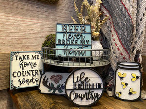 Country Life Tiered Tray