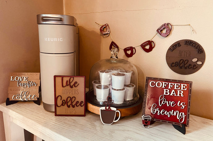 Coffee Lover's Tiered Tray