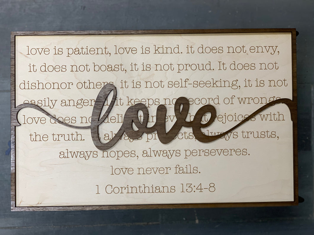Layered Quotes: Love is Patient