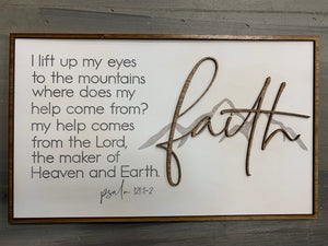 Layered Quotes: Faith: Mountains