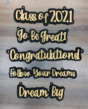 Load image into Gallery viewer, Set of 5 Graduation Signs SVG Digital Files Glowforge Thunder Laser Ready