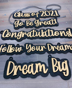 Set of 5 Graduation Signs SVG Digital Files Glowforge Thunder Laser Ready