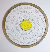 Load image into Gallery viewer, Layered Round Nursery Rhyme: You are my Sunshine Laser Ready SVG File Glowforge