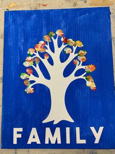 Finger Print Family Tree Canvas Kit
