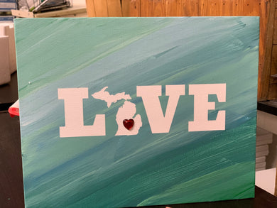 LOVE Michigan Canvas Project