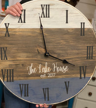 Load image into Gallery viewer, Farmhouse Clock, 18""