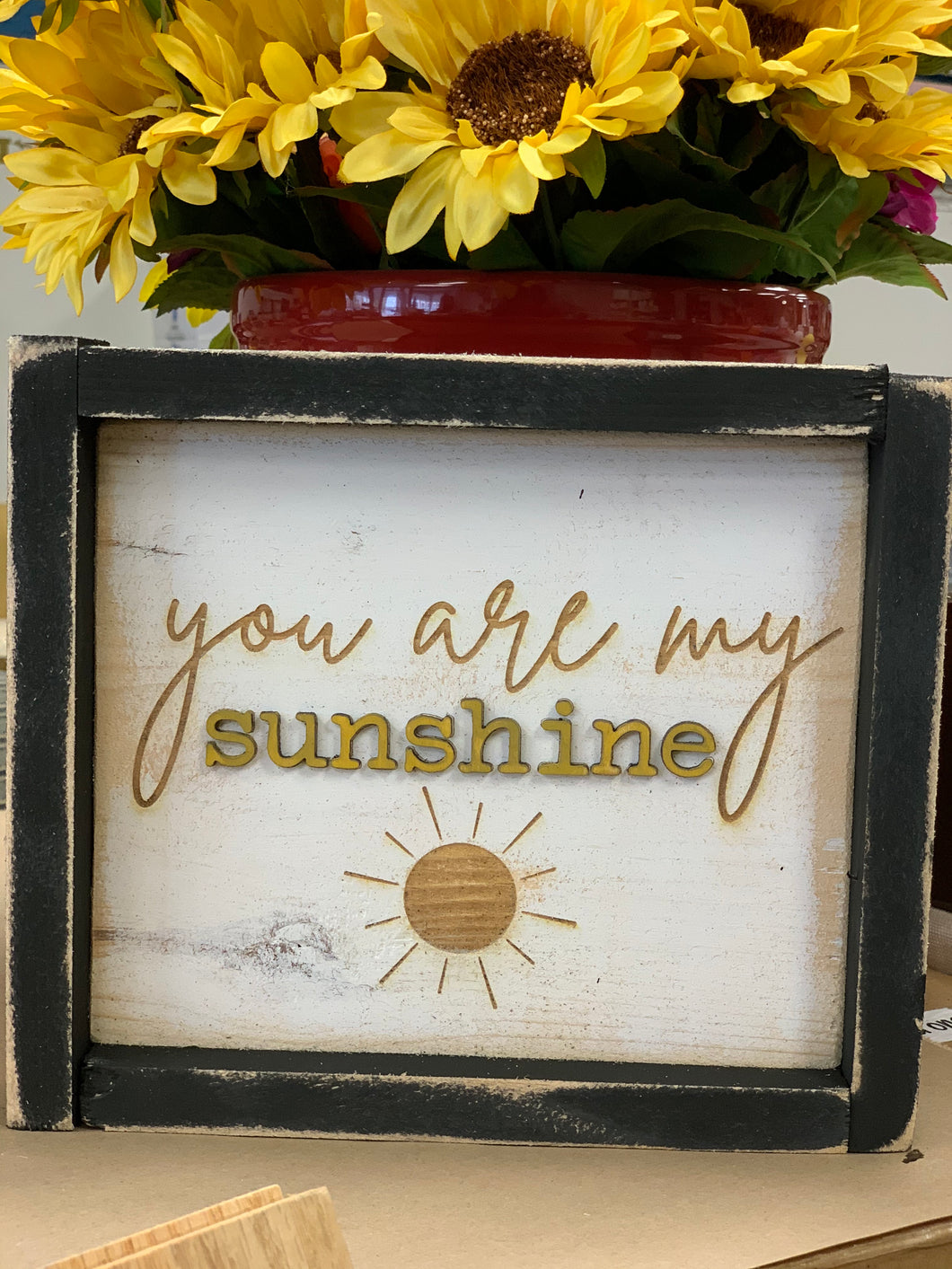 You are my sunshine, 9 x 9 Black Frame