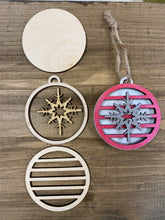 Load image into Gallery viewer, Snowflake Ornament Cut File, GLOWFORGE, LASER