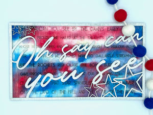 Layered Song: Star Spangled Banner Oh Say Can You See SVG Laser Ready File GLOWFORGE
