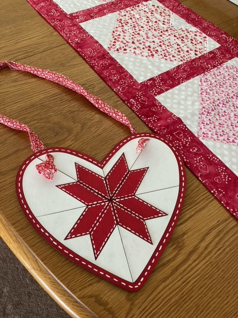 Heart Shaped Barn Quilt