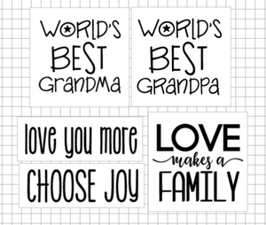 Take Home Mini Signs: Family (choose 2)