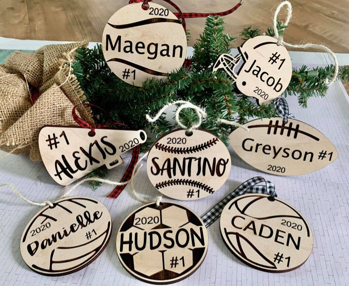 Personalized Sports Ornaments