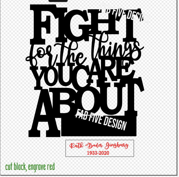 RBG Tribute Quote: Fight for the Things You Care About