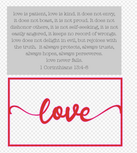 Load image into Gallery viewer, Layered Quotes: Love is Patient