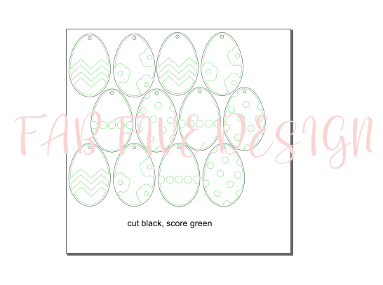 SVG Digital File: Easter Egg Ornaments/Tags
