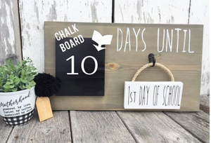 Countdown Chalkboard, Days Until Sign