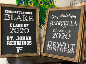 Framed Canvas Graduation Sign