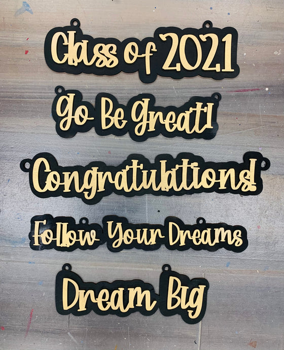 Hanging Layered Graduation signs