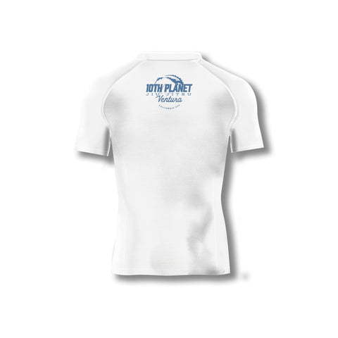 Huckleberry White Short Sleeve Rashguard