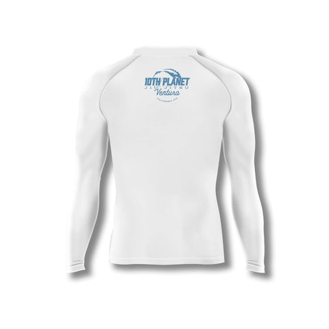 Huckleberry White Long Sleeve Rashguard