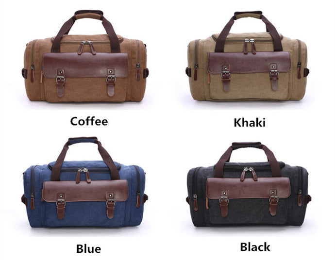 76ec2d1340 High Quality Canvas Luggage Bag Large Capacity Travel Bag Men Shoulder  Handbag Crossbody Travel Duffel Bags