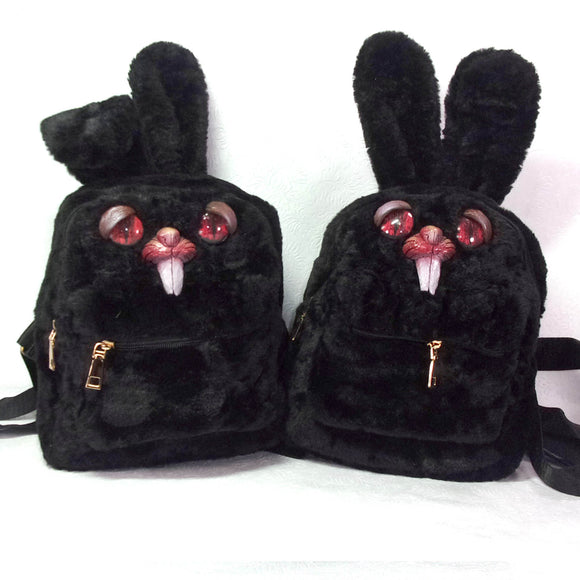 Sleepy Bunny Backpack (Black Edition)