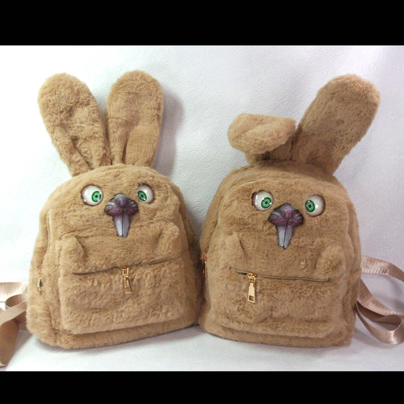 Bunny Backpack (Brown Happy Bunny Edition)