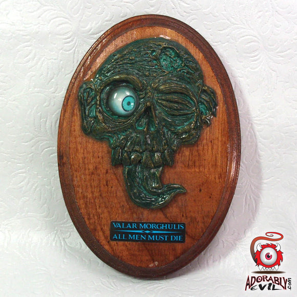 White Walker (Faux Aged Bronze Valar Morghulis Wall Plaque)