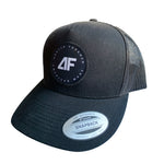 Badge Snapback Trucker - Black