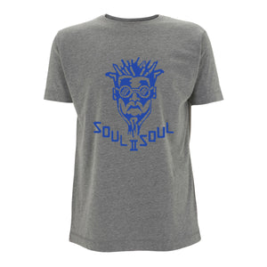 CLASSIC FUNKI DRED LOGO - DARK HEATHER / ROYAL BLUE
