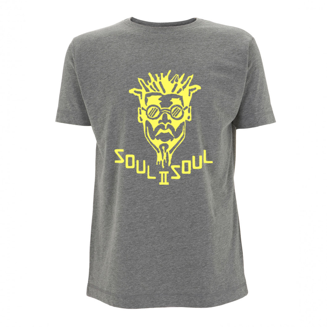 CLASSIC FUNKI DRED LOGO - DARK HEATHER / YELLOW