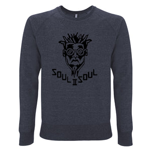 CLASSIC FUNKI DRED SWEATSHIRT - MÉLANGE NAVY / BLACK FLOCKING
