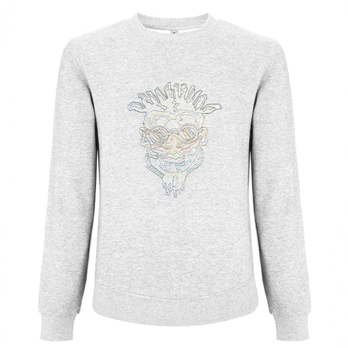 'WIREFRAME' EMBROIDERED FUNKI DRED SWEATSHIRT