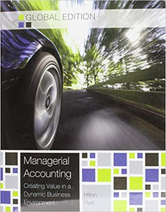 Managerial Accounting - Global Edition