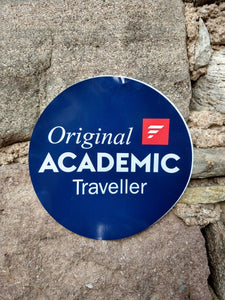 """Original Academic Traveller"" Sticker"
